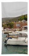 Milos On Agistri Island Beach Towel