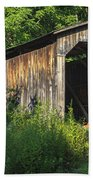 Milton Dye Covered Bridge  Beach Towel