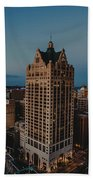 Milwaukee Aerial. Beach Towel