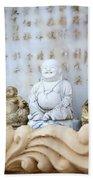 Minature Buddhas Beach Towel