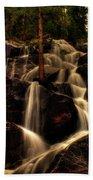 Quaking Aspen Falls Along Tioga Pass  Beach Towel