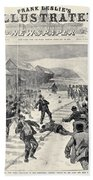 Miner Strike, 1888 Beach Towel