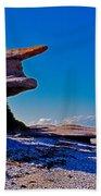Mingan's Humanoid Monolith Beach Towel
