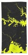 Minimalist Modern Map Of Sydney, Australia 8 Beach Towel by Celestial Images
