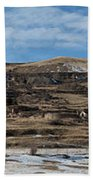 Mining Town Panorama Beach Towel