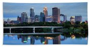 Minneapolis Reflections Beach Towel