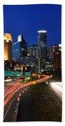 Minneapolis Skyline  Beach Sheet