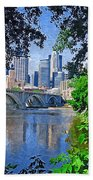 Minneapolis Through The Trees Beach Towel