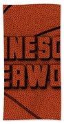 Minnesota Timberwolves Leather Art Beach Towel