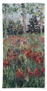 Minnesota Wildflowers Beach Towel by Nadine Rippelmeyer