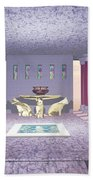Minoan Temple Beach Towel by Corey Ford
