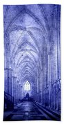 Minster In Blue Beach Towel