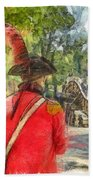 Minuteman And Redcoat Concord Ma Pencil Beach Towel