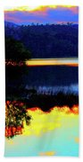 Mirrored Sky Beach Towel