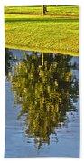 Mirroring Trees Beach Towel by Heiko Koehrer-Wagner