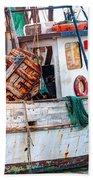 Miss Hale Shrimp Boat - Side Beach Towel