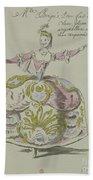 Miss Puvigne As Air, In Zoroastre, A Libretto By Cahusac Beach Towel