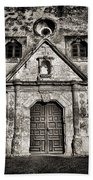Mission Concepcion Front - Toned Bw Beach Towel