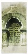 Mission Espada Chapel Door Beach Towel