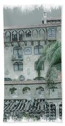 Mission Inn Court Yard Beach Towel