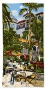 Mission Inn Spanish Patio 1940s Beach Towel