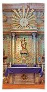 Mission San Miguel Arcangel Altar, San Miguel, California Beach Towel