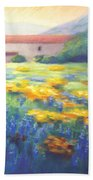 Mission Wildflowers Beach Towel