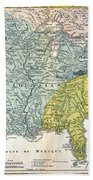 Mississippi Region, 1687 Beach Towel
