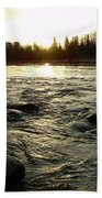 Mississippi River Dawn Reflection Beach Towel