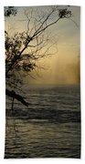 Mississippi River Foggy June Sunrise Beach Towel