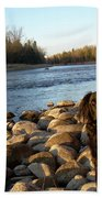 Mississippi River Good Morning Beach Towel