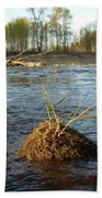 Mississippi River Grass On A Rock Beach Towel