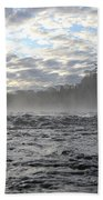 Mississippi River Mist Over Rushing Water Beach Towel
