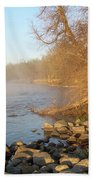 Mississippi River Shades Of Fog Beach Towel