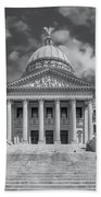 Mississippi State Capitol Bw Beach Towel