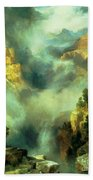 Mist In The Canyon Beach Towel