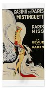 Mistanguette At The Casino De Paris Beach Towel