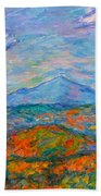 Misty Blue Ridge Autumn Beach Towel