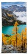 Misty Colchuck Lake Beach Towel