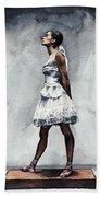 Misty Copeland Ballerina As The Little Dancer Beach Towel