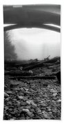 Misty Morning In Black And White Beach Towel