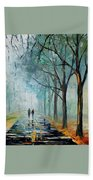 Misty Stroll Beach Towel