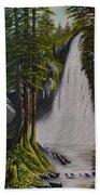 Misty Waterfall Beach Towel