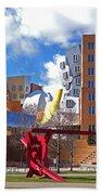 Mit Stata Center Cambridge Ma Kendall Square M.i.t. Sculpture Beach Towel