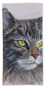Mitze Maine Coon Cat Beach Towel