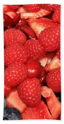 Mixed Berries Beach Towel