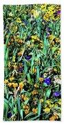 Mixed Wildflowers In Texas Beach Towel