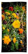 Mixture Of Flowers On Summer Day Beach Towel