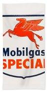 Mobil Gas Vintage Sign Beach Sheet