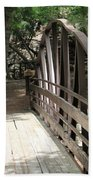 Mocha Colored Walking Bridge In American Fork Canyon Utah Beach Towel